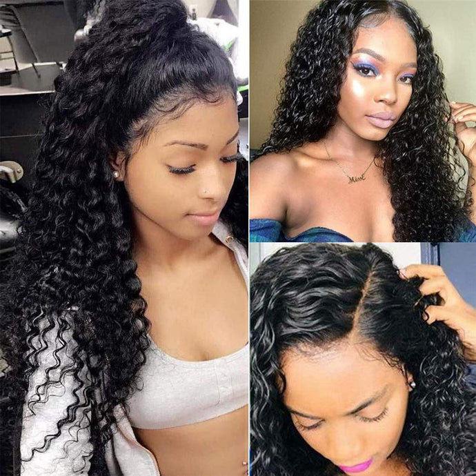 360 lace frontal curly remy human hair wig - Ziling-Hair