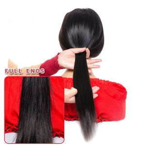 5*5 lace closure Brazilian remy human hair wigs - Ziling-Hair