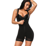 Adjustable Strap Zipper Crotch Body Shaper