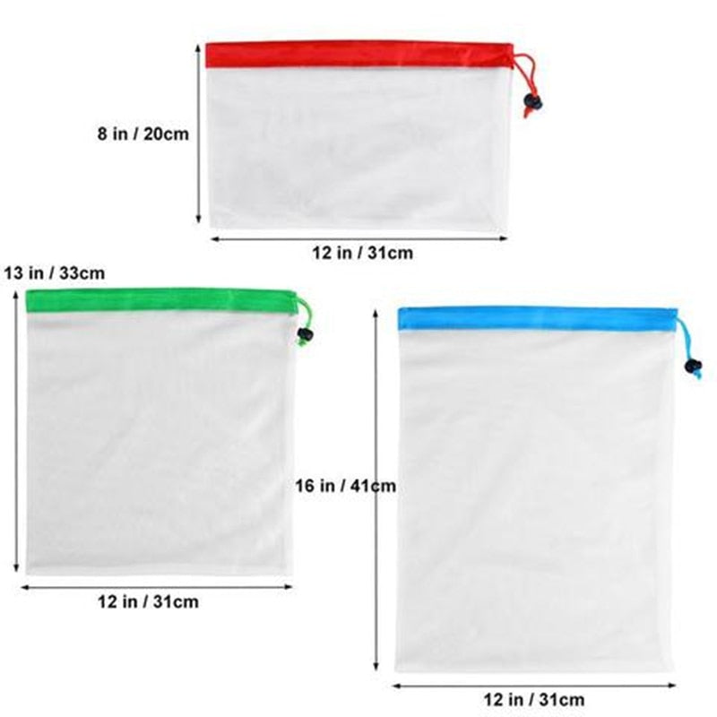 12 pc Reusable Produce Bags