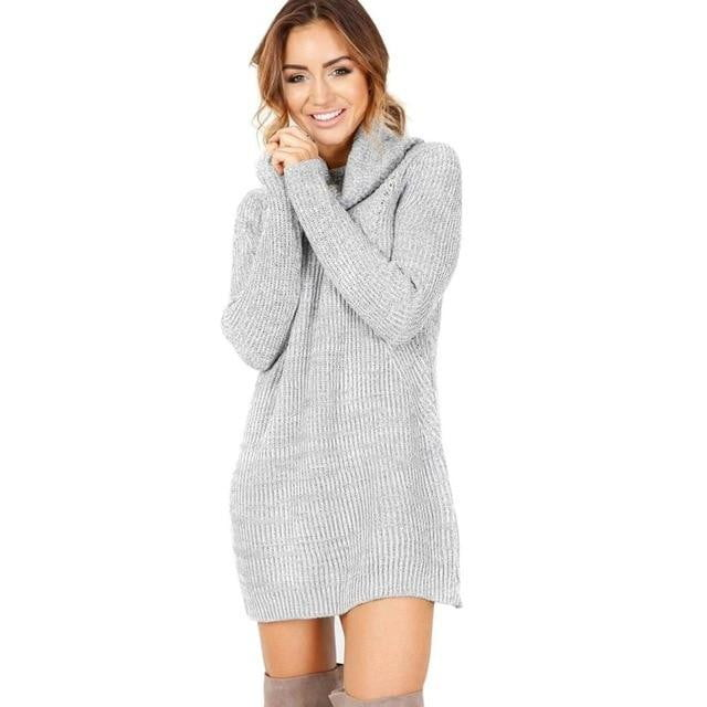 Soft Knitted Turtleneck Pullover - Inspire Hero