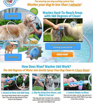 360 Pet Shower Tool