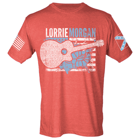 Lorrie Morgan Guitar Flag Tee