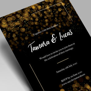 Glimmering Night Wedding Invitations