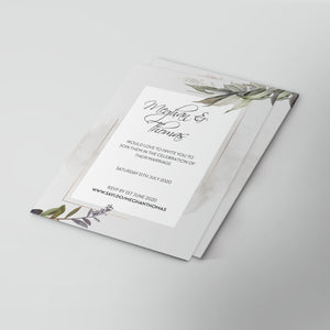 Botanical Wonderland Wedding Invitations