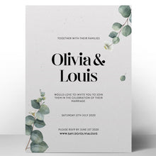 Load image into Gallery viewer, Eucalyptus Wedding Invitations