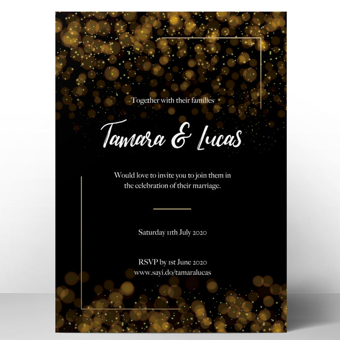 Glimmering Night Invitations