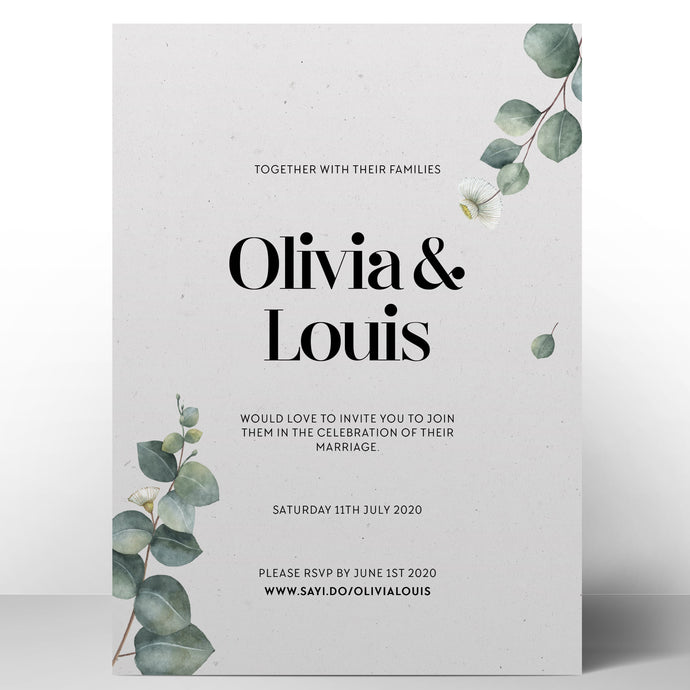 Eucalyptus Invitations