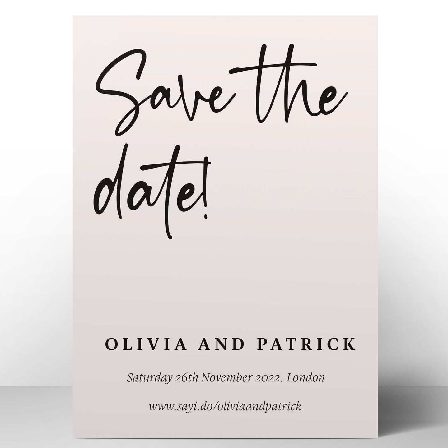 Tuscan Script Save the Dates