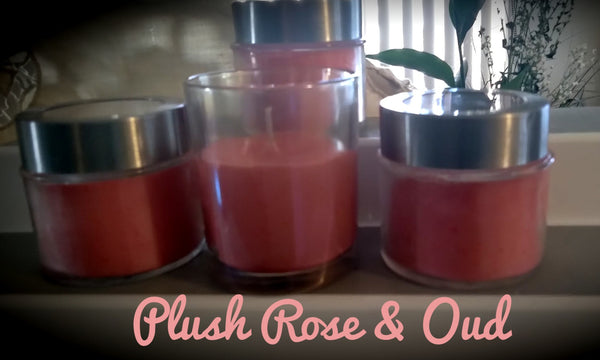 Plush Rose & Oud (6oz) w/ aluminum and clear lid