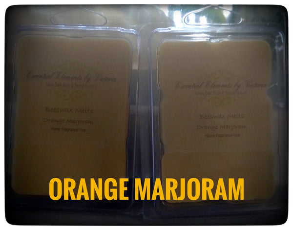 Orange Marjoram Beeswax Melts (6) Cavity Pkg