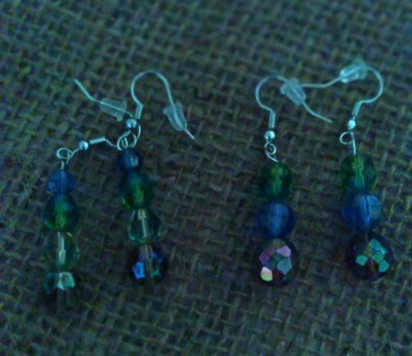 Colorful Beads Earrings (right) Item #181