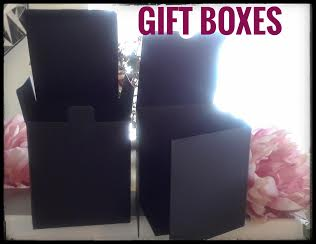 Flat Black Gift Box for 14 oz Candle