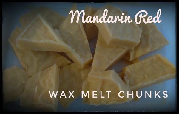 Mandarin Red - Beeswax Melts (Chunks) 4oz