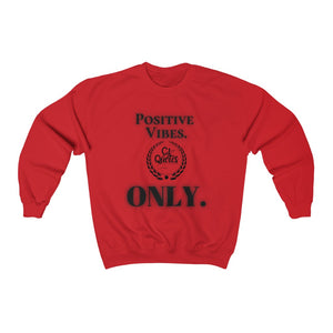 Positive Vibes (Black) Unisex Heavy Blend™ Crewneck Sweatshirt