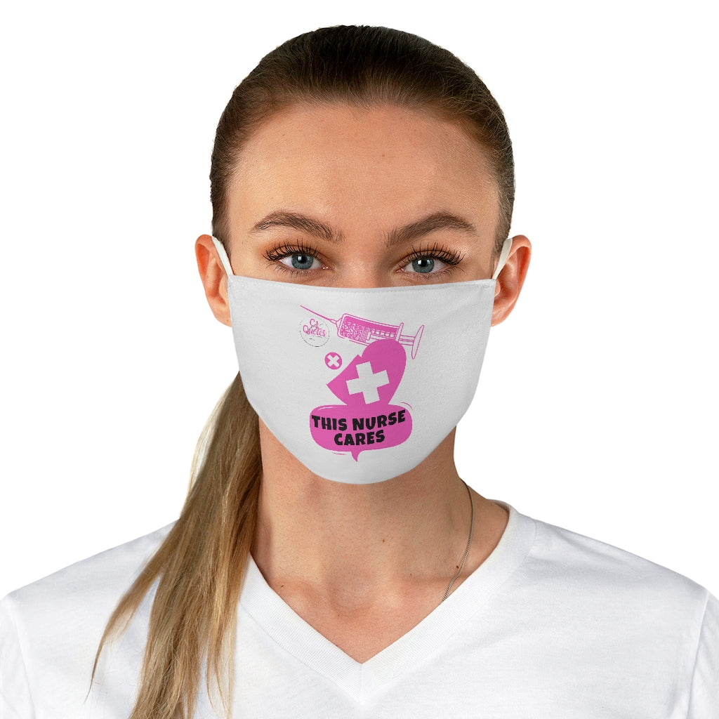 This Nurse Cares Fabric Face Mask