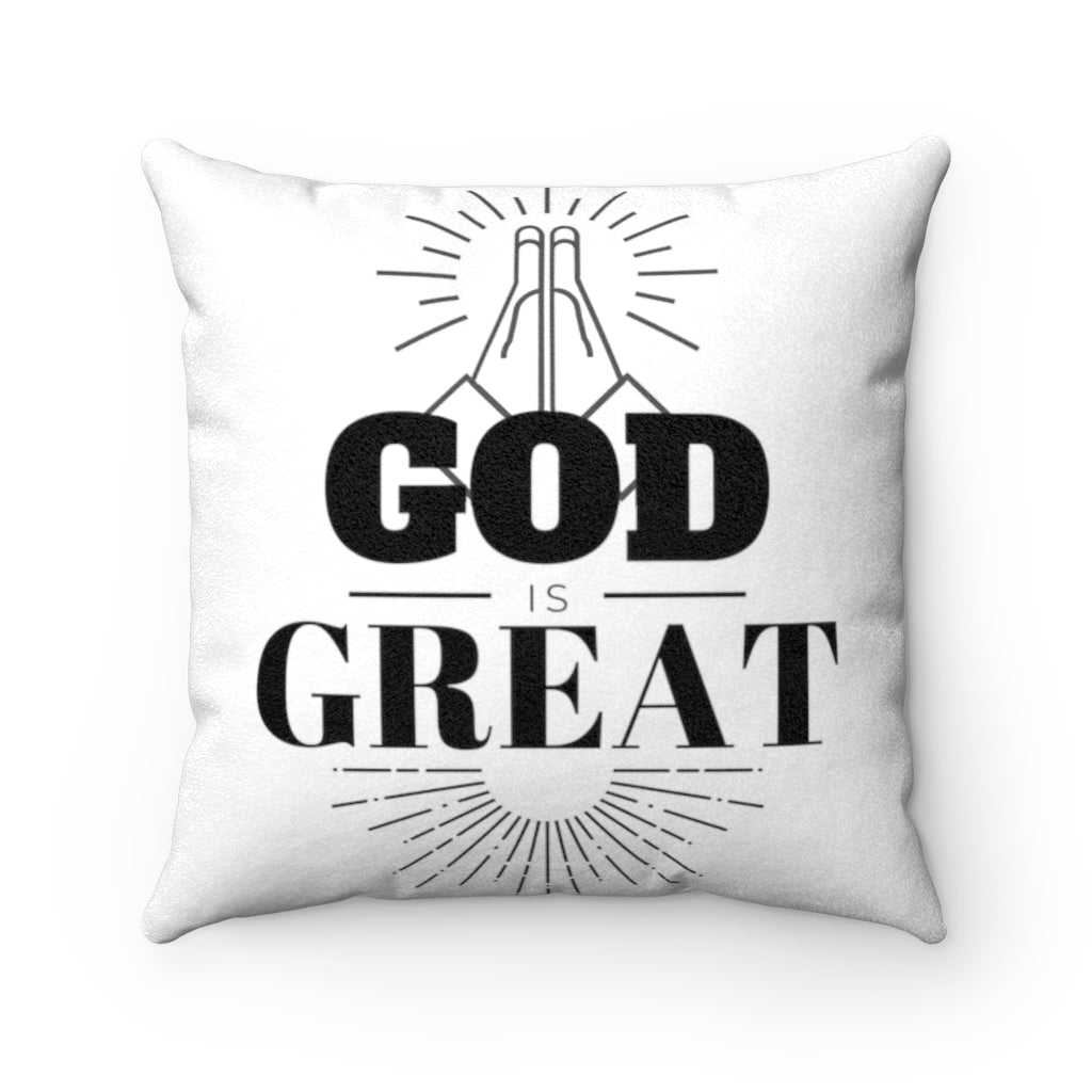 God/Jesus Faux Suede Square Pillow