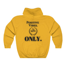 Load image into Gallery viewer, Positive Vibes (Black) Unisex Heavy Blend™ Hooded Sweatshirt
