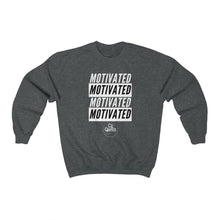 Load image into Gallery viewer, Motivated Crewneck Sweatshirt (White Print)