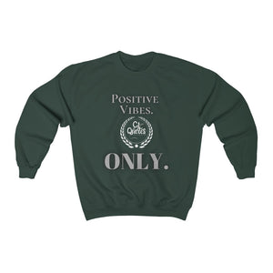 Positive Vibes (Black/White) Unisex Heavy Blend™ Crewneck Sweatshirt