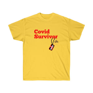 Covid Survivor (Red) Unisex Ultra Cotton Tee