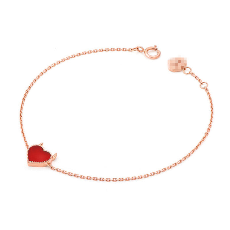 Cute Devil's Heart Bracelet