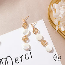 Load image into Gallery viewer, Hand-made Shell Earrings-5