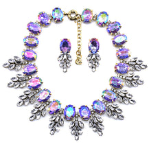 Load image into Gallery viewer, Fashion Handmade Clip Diamond Crystal Necklace Earring Set