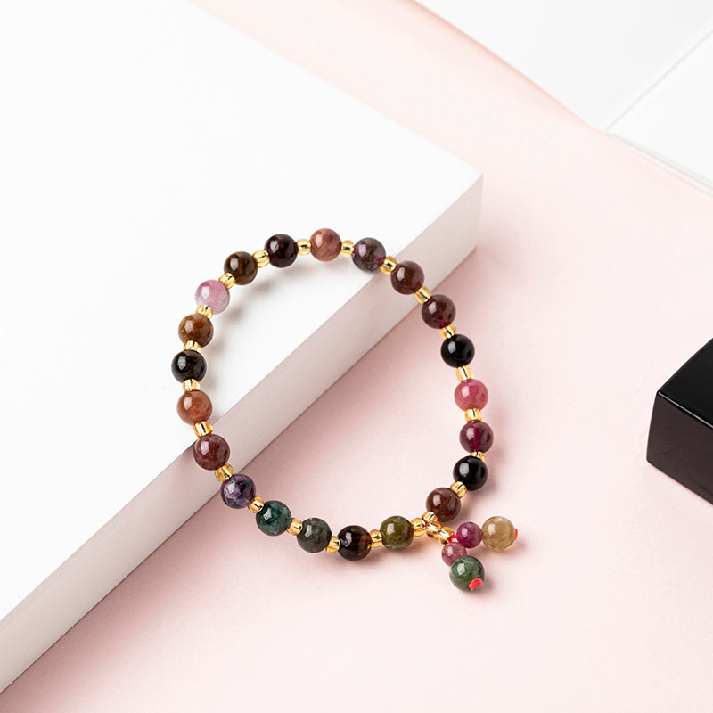 Girlish Cute Tourmaline Crystal Bracelet