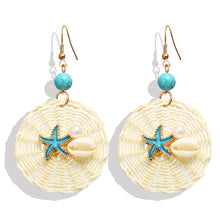 Load image into Gallery viewer, Starfish Woven Earrings