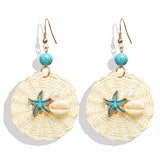Starfish Woven Earrings
