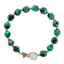 Load image into Gallery viewer, Light luxury green tiger's eye bracelet 2 piece set