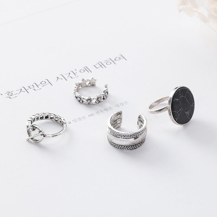 Marble Simple Opening Ring Set