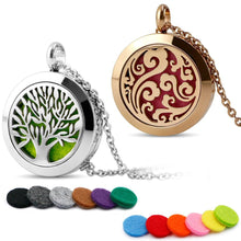Load image into Gallery viewer, Popular Life Tree Titanium Steel Hollow Perfume Pendant