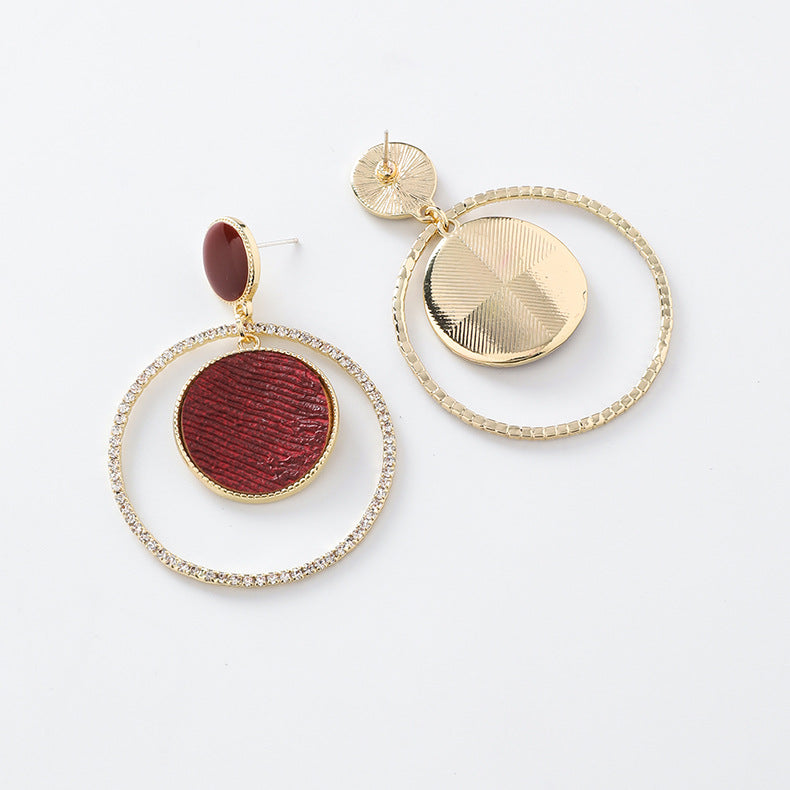 Red Sun Earrings