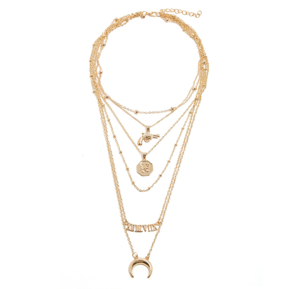 Simple diamond multi-layer clavicle chain