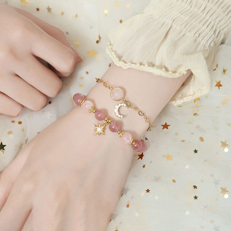 Pink Star Strawberry Bracelets