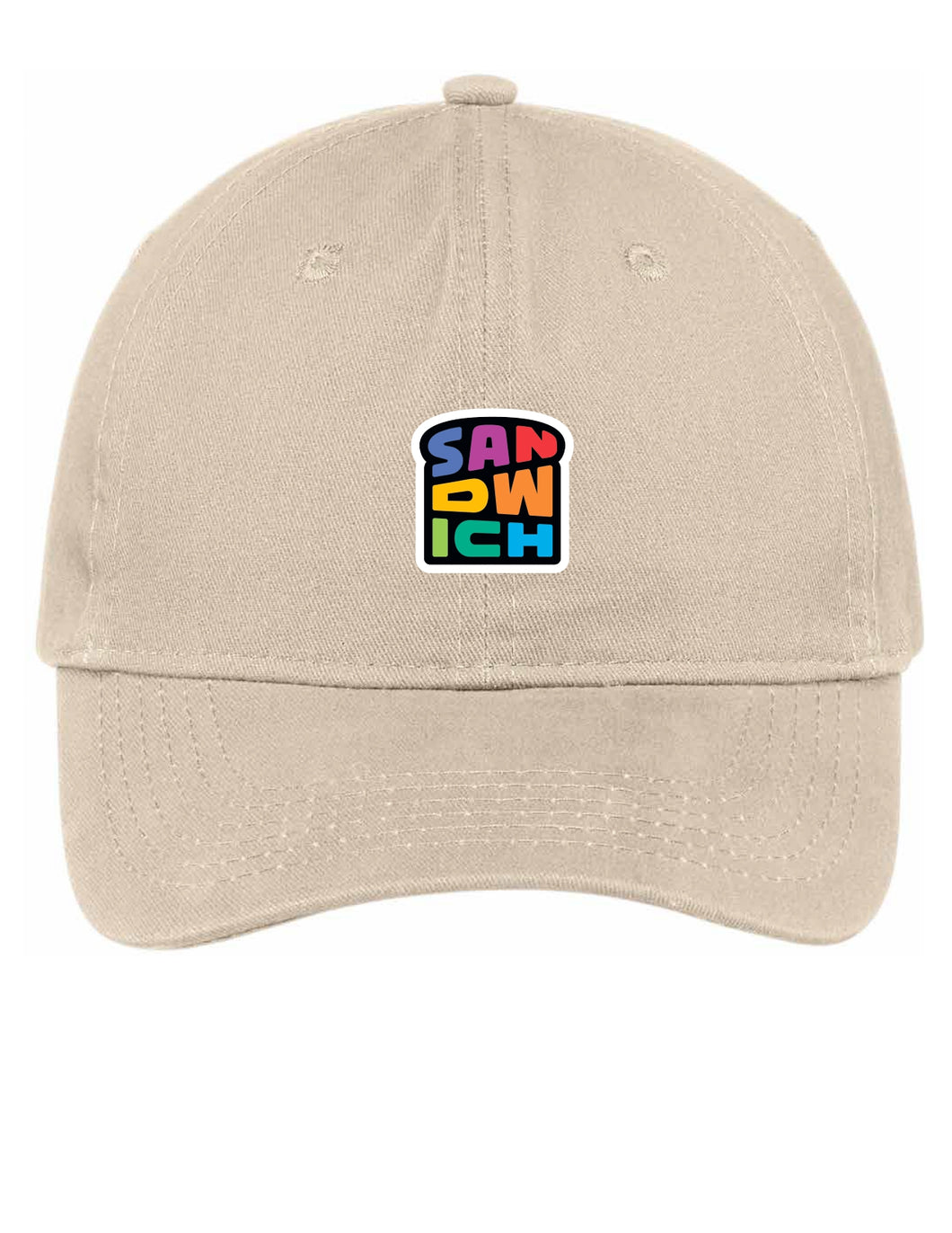 Stone Hat with Rainbow Logo