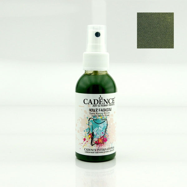 Your Fashion Spray Fabric Paints -Leaf green - 100 ML