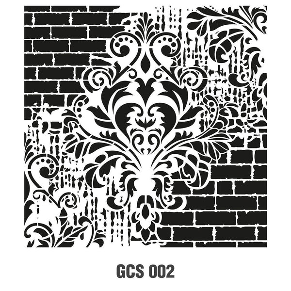 Grunch Wall Stencil Collection |GCS002|25*25cm