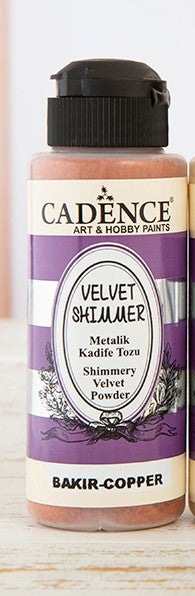 Velvet Shimmer  Powder - Copper- 120 ML