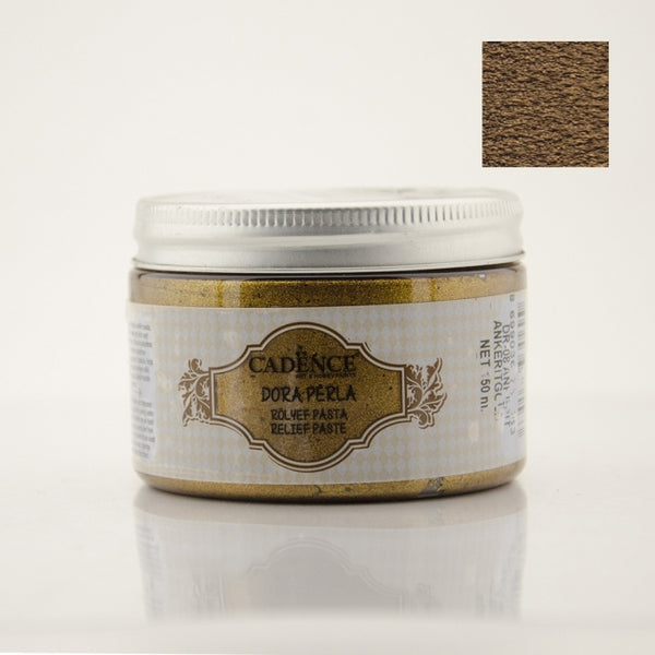 Dora Perla Metallic Relief Paste -Ankerit Gold - 150 ML