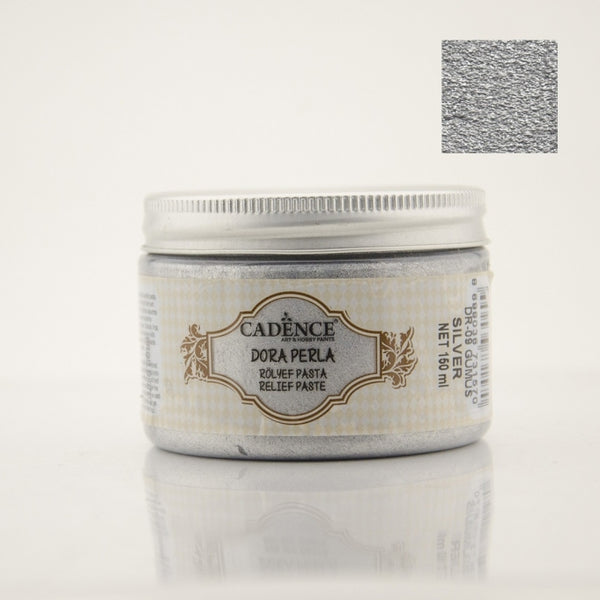 Dora Perla Metallic Relief Paste -Silver  - 150 ML