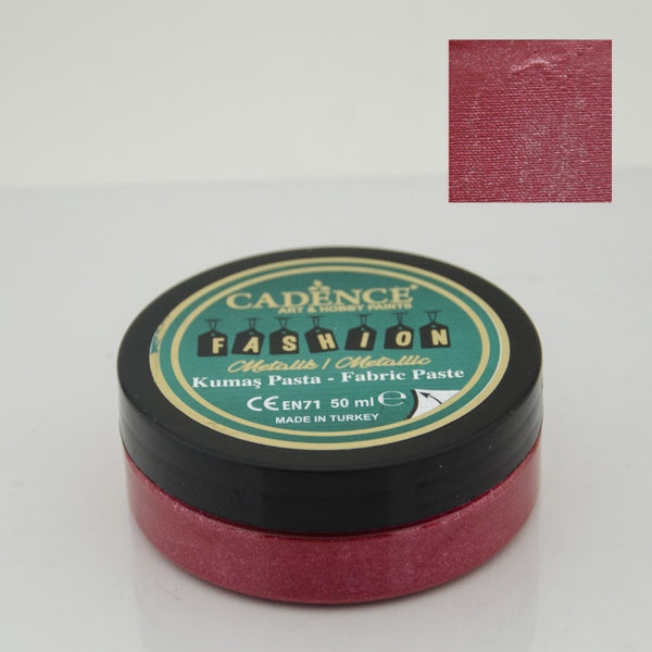 Fashion Fabric Paste Metallic - Red - 50 ML