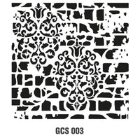 Grunch Wall Stencil Collection |GCS003|45*45cm