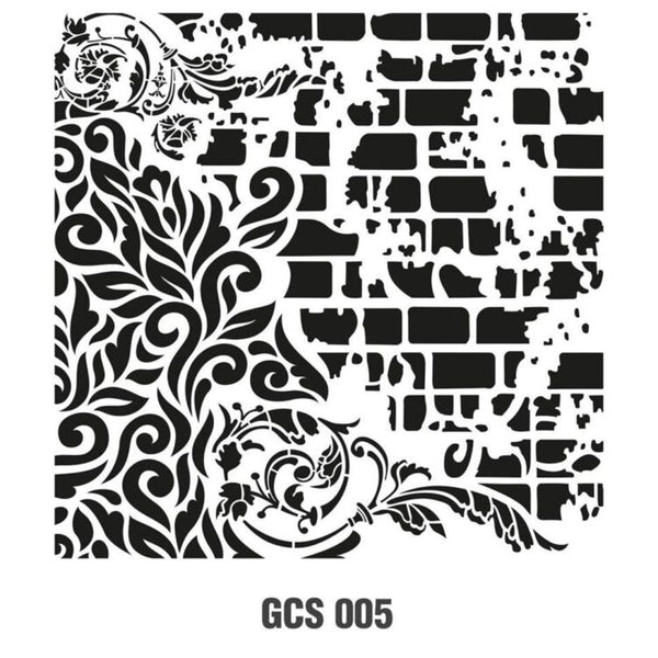 Grunch Wall Stencil Collection |GCSS005|25*25cm