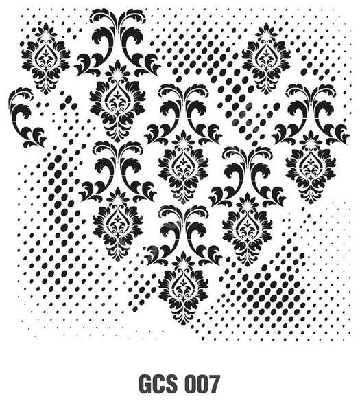 Grunch Wall Stencil Collection |GCS007|25*25cm