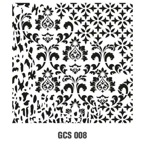 Grunch Wall Stencil Collection |GCS008|45*45cm