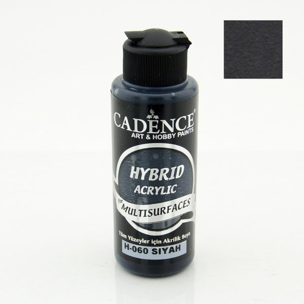 Hybrid Acrylic Paint - BLACK - 120 ML