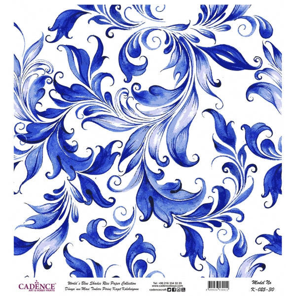 K025 World's Blue Shades Rice Paper